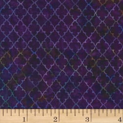 Hoffman Bali Batiks Quatrefoil New Grape Fabric