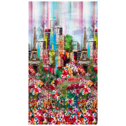 Hoffman Digital Wanderlust 18'' Paris Panel Spring Fabric