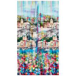 Hoffman Digital Wanderlust 18'' Positano Panel Blossom Fabric