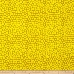 Hoffman Me+You Indah Batiks Large Dots Mustard Fabric
