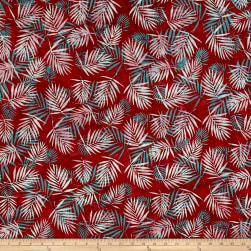 Hoffman Bali Batiks Palm Leaves Red Fabric