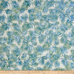Hoffman Bali Batiks Palm Leaves Atlantic Fabric