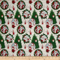 Stof France French Fantaisy Santaclaus Multi Fabric