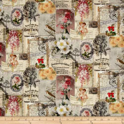 Stof France French Fantaisy Gravure Multi Fabric