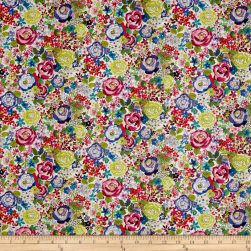 Stof France French Fantaisy Rosebud Multi Fabric