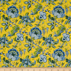 Stof France Valdrome Makayla Bleu/Jaune Fabric