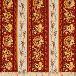 Stof France Valdrome Surya Terracota Fabric