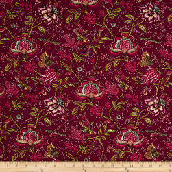 STOF France Valdrome Colombe Rouge Fabric