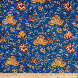 Stof France Valdrome Colombe Bleu Fabric
