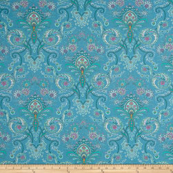 Stof France Valdrome Kalian Bleu 002 Fabric