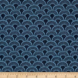 Stof France Valdrome Galuchat Blue Fabric