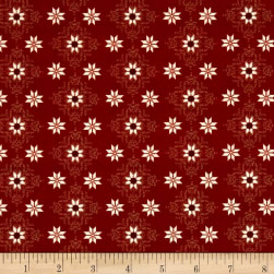 Stof France Valdrome Pierre Blanche Red Fabric