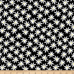 Kanvas Lemon Twist Daisy Dot Black/White Fabric