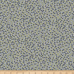 Kanvas Lemon Twist It's A Dot Gray/Lemon Fabric