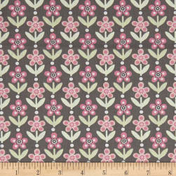 Stof France Infants Twiggy Gris Rose Fabric