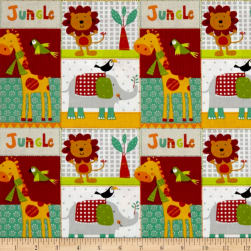 Stof France Infants Junglepet Multicolore Fabric