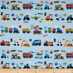 Stof France Infants Klaxon Bleu Fabric