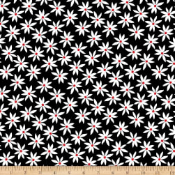 Kanvas Cherry Twist Daisy Dot White/Red Fabric