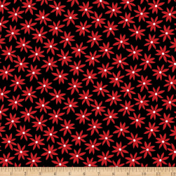 Kanvas Cherry Twist Daisy Dot Black/Cherry Fabric