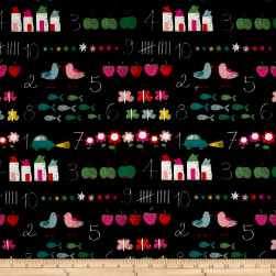 Stof France Infants Chalkboard Noir Fabric