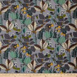 A Ghastlie Botanical Gray/Sage Fabric