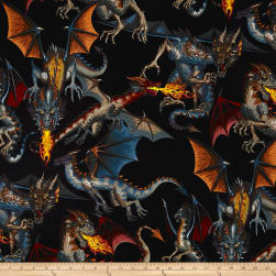 Tale of the Dragon Brite Fabric