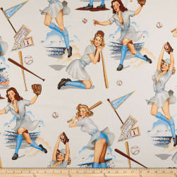 Alexander Henry Swingers Natural/Blue Fabric
