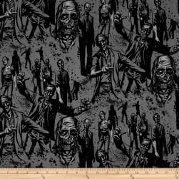 Alexander Henry Zombie! Charcoal Fabric