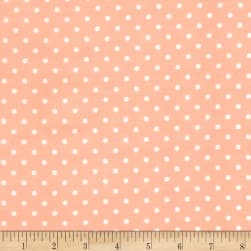 Timeless Treasures Polka Dot Peach Fabric