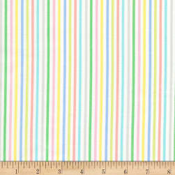 Timeless Treasures Jungle Paradise Stripe Pastel Fabric