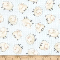 Timeless Treasures Flannel Cotton Tale Farm Sheep Cloud Fabric