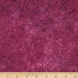 Timeless Treasures Tonga Batik Orchid Geo Magenta Fabric