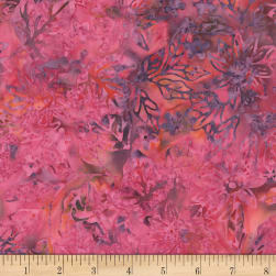 Timeless Treasures Tonga Batik Orchid Disco Lotus Fabric