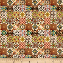 STOF France Le Quilt Orient Express Yellow Fabric