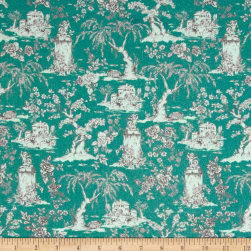 STOF France Le Quilt Belle Epoque Teal Fabric