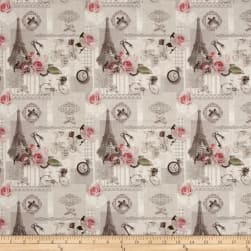 Stof France Le Quilt La Concorde Grey Fabric