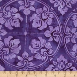 Timeless Treasures Tonga Batik Rio Wallpaper Purple Fabric