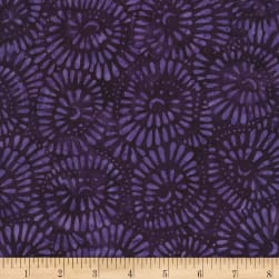 Timeless Treasures Tonga Batik Rio Bead Flowers Royalty