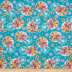 Amy Butler Night Music Cloud Blossom Turquoise Fabric
