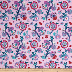 Amy Butler Night Music Midnight Bloom Lavender Fabric