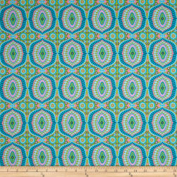 Amy Butler Night Music Temple Tiles Dew Fabric