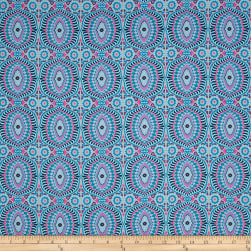 Amy Butler Night Music Temple Tiles Mist Fabric