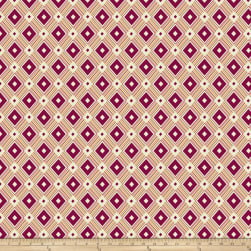 Denyse Schmidt Ludlow Diamond Medallion Dogwood Fabric