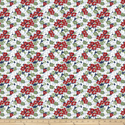 Coats Daisy Daze Gerbera Blue Fabric