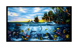 Paradise Found 24'' Panel Black Fabric