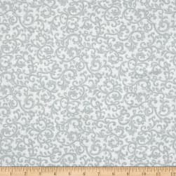 Impressions Scroll Light Gray Fabric