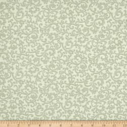 Impressions Scroll Light Green Fabric