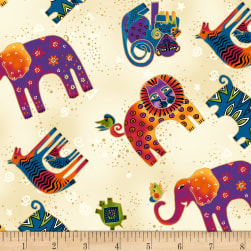 Wild Ones Flannel Cream Fabric