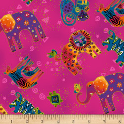 Wild Ones Flannel Fuchsia Fabric