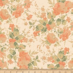 Love Lives Here Floral Cream Fabric